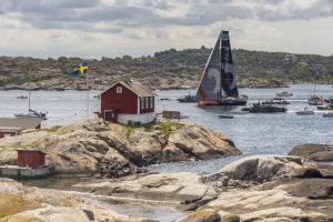 June 22, 2015. The Volvo Ocean Racce fleet arrives in Gothenburg. Team Alvimedica, winner of Leg 9 from Lorient.